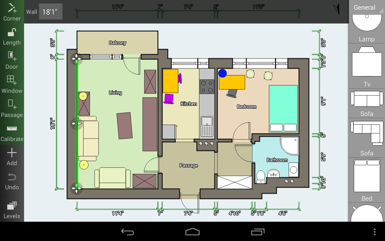 Floor plan creator cr er et partager vos plans avisofi for Simple floor plan creator free